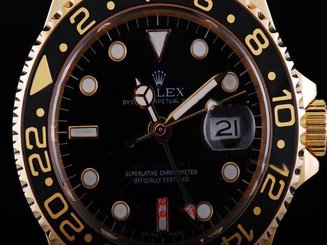 rolex goud zwart uurwerk